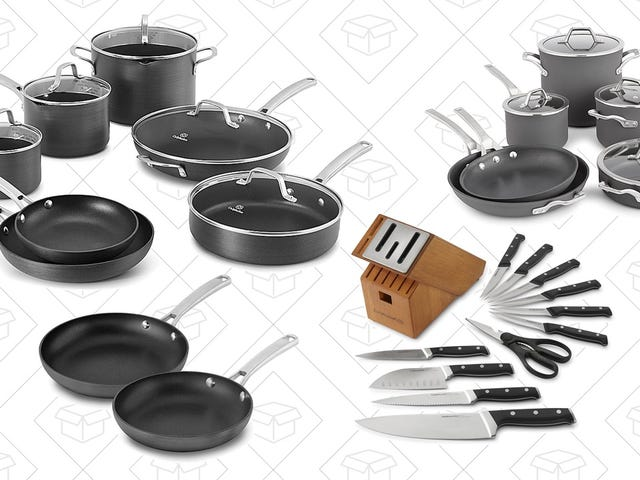 Fill Your Kitchen With Discounted Calphalon Cookware Sets, Knife Sets, and Fry Pans