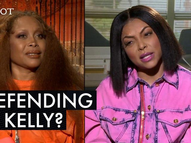 예, Taraji P. Henson과 Erykah Badu는 <i>What Men Want</i> 언론 투어를 <i>What Men Want</i> 동안 R. Kelly의 의견을 언급했습니다.