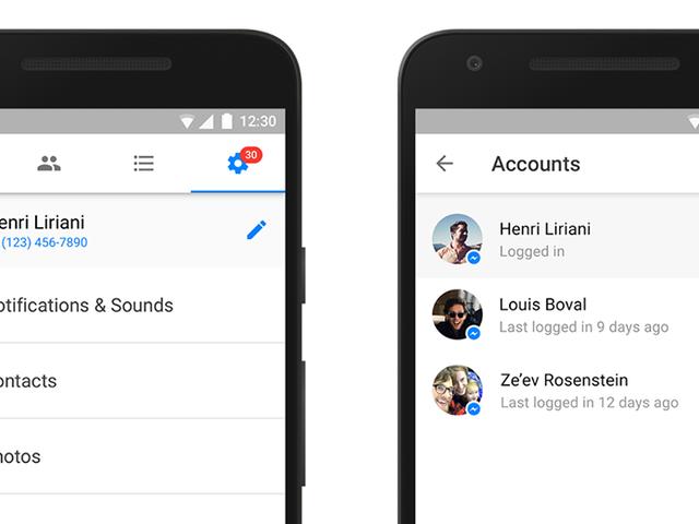 Facebook Messenger теперь поддерживает несколько учетных записей на одном устройстве