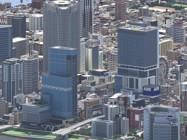 This Isn't A Photo Of Japan, But A City Made In <i>Minecraft</i>