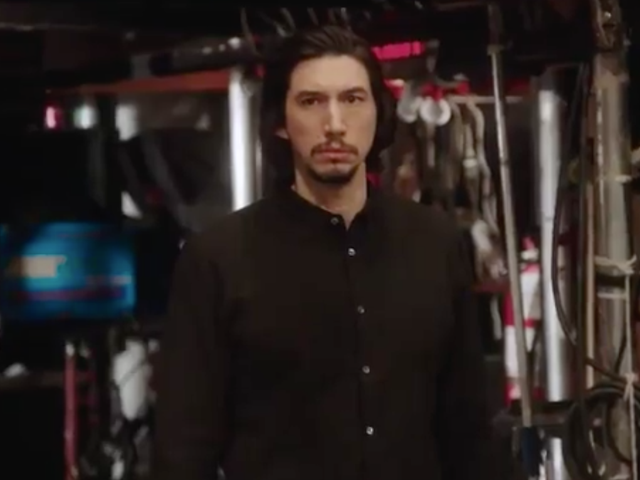 Adam Driver cleans up the set before returning to SNL this Saturday