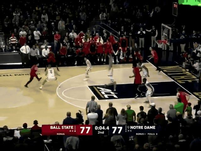Ball State Hits Game-Winning Three To Upset Notre Dame