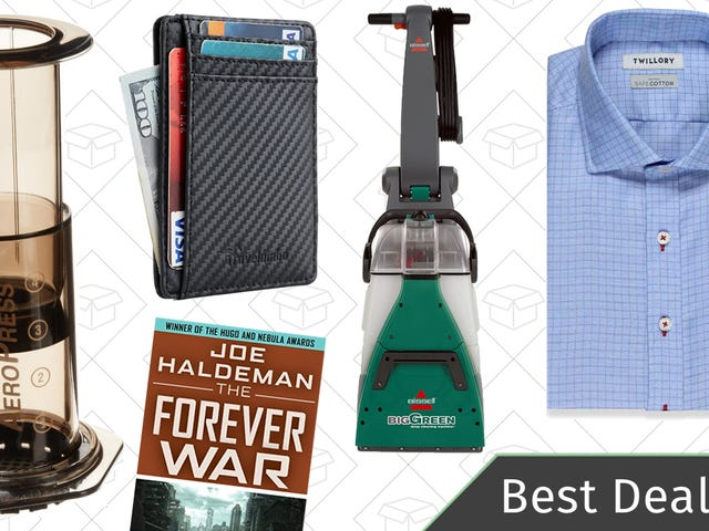 Friday's Best Deals: Coffee Gadgets, Twillory Shirts, Front Pocket Wallets, and More