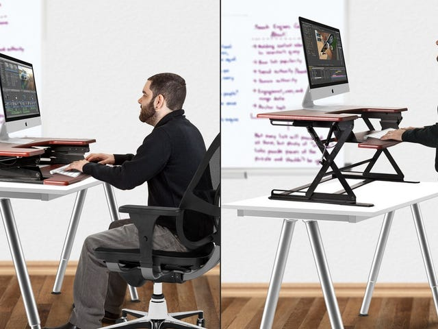 Try Out a (Part-Time) Standing Desk In 2018 With These Discounted Risers