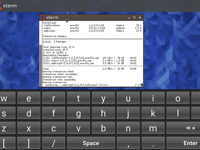Fedora Linux on Android Phones