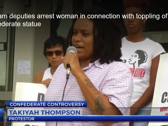 Black Woman Arrested in Connection With Confederate Statue Being Taken Down at Protest in Durham, NC