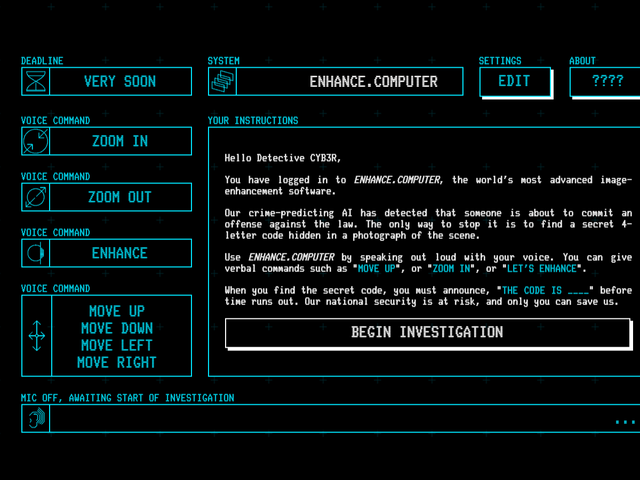 A Game That Lets You Solve Crimes By Yelling At Your Computer