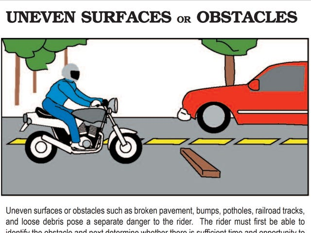 Whoever did the illustrations for the MA motorcycle handbook was overpaid