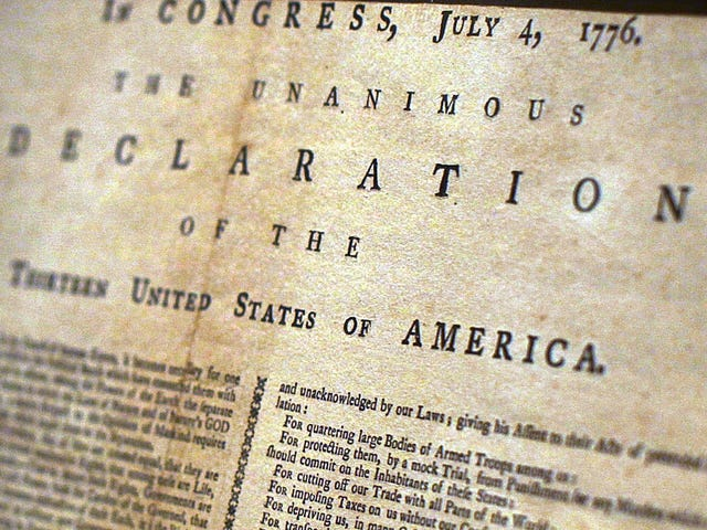 Facebook Says It's Sorry for Removing a Part of the Declaration of Independence That Includes a Racial Slur