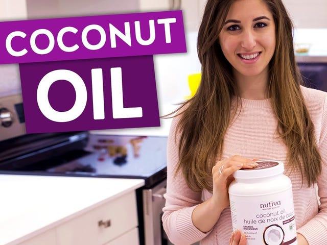 Удалить жевательную резинку с волос с помощью кокосового масла
