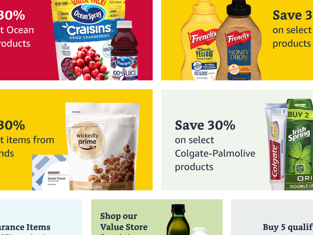 Get $10 Off, Plus Free Shipping, With a $60 Prime Pantry Purchase