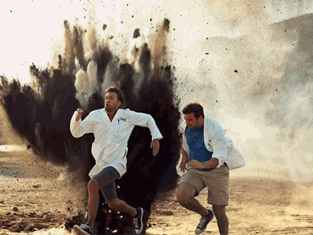 Watch the Slow Mo Guys Get Blown Up Like Action Heroes in Their Fancy New YouTube Show