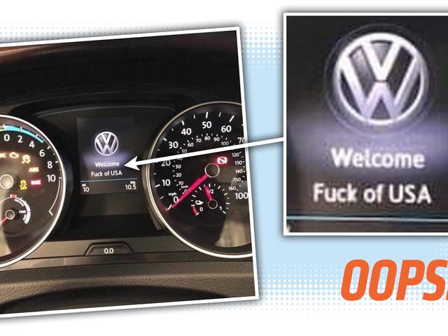 Brand-New Volkswagen прибуває у дилера та викидає F-Бомби до Америки