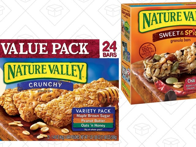 Save 30% On All of Your Favorite Nature Valley Bars, Courtesy of Amazon