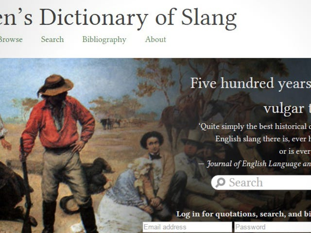 Udforsk over 500 år engelsk slang med denne online-ordbog