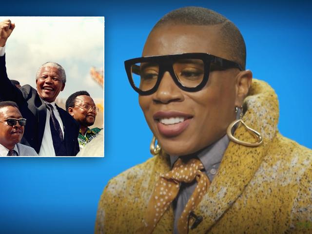 Watch : 나의 흑인 역사 : <i>Underground'</i> 의 Aisha Hinds는 Nelson Mandela를 통해 예술의 힘을 배웁니다.