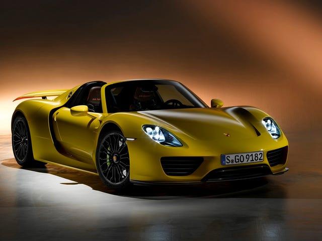 Porsche 918 Spyderin hinnat palautuksen jälkeen
