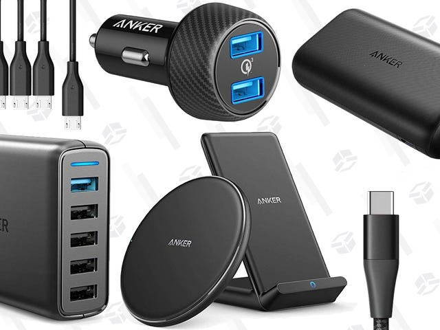 A Whole Bunch of Anker Charging Gear Is Deeply Discounted, For One Day Only