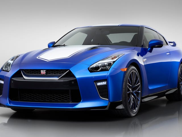 La Nissan GT-R, édition du 50e anniversaire, recevra une prime de prix de 9 000 $ et sa belle couleur bleue