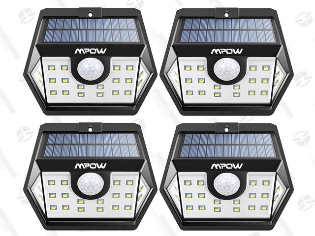 Illuminate Every Side of Your House With Four Motion-Sensing Solar Lights For $29