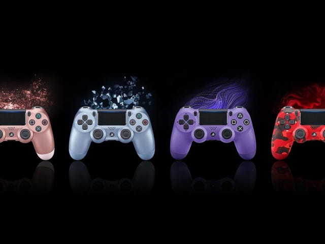 Sony will be releasing the DualShock 4 in four brand-new colorsthis September: Rose Gold, Titanium