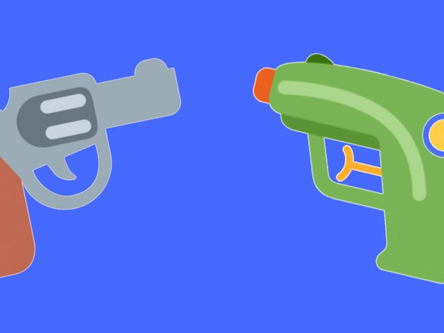 Twitter Bails på Cartoon Pistol Emoji