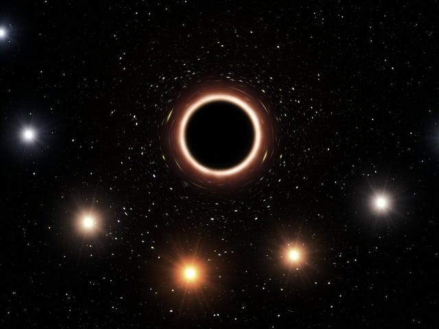 Supermassive Black Hole Stretches Starlight, Proving Einstein Right Again