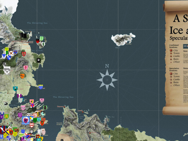 Get Your Game of Thrones Fix With This Interactive, Spoiler-Proof Map