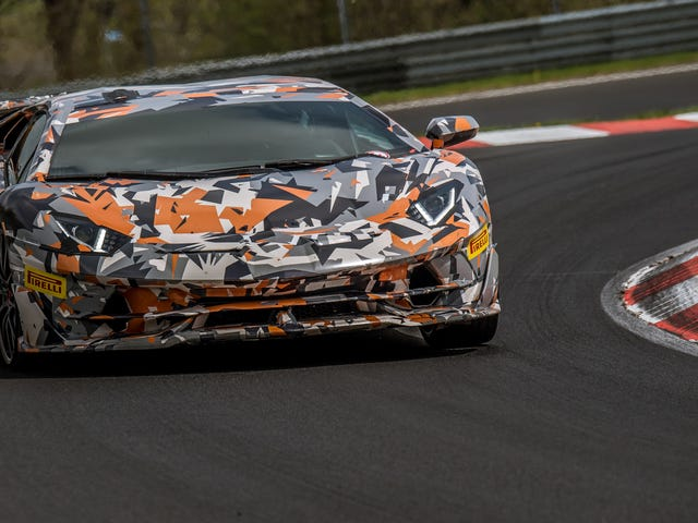 Lamborghini Aventador SVJ Smashes Anvil Through Nürburgring Production Car Record; Shatters It Like Glass; Hurls Shards Into Nearby Porsche's Drink
