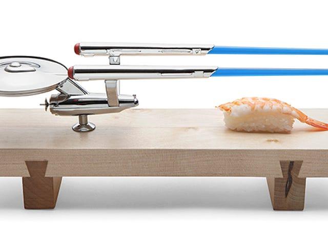 Wonderful U.S.S. Enterprise Sushi Set Includes Warp Trail Chopsticks