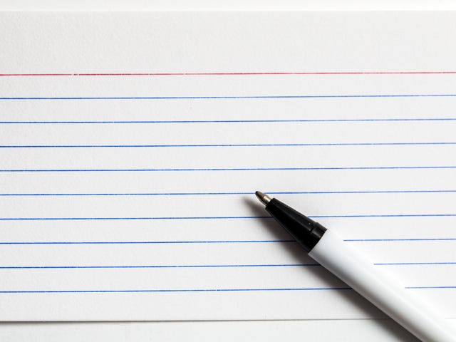Use Old School Index Cards for Capturing New Ideas
