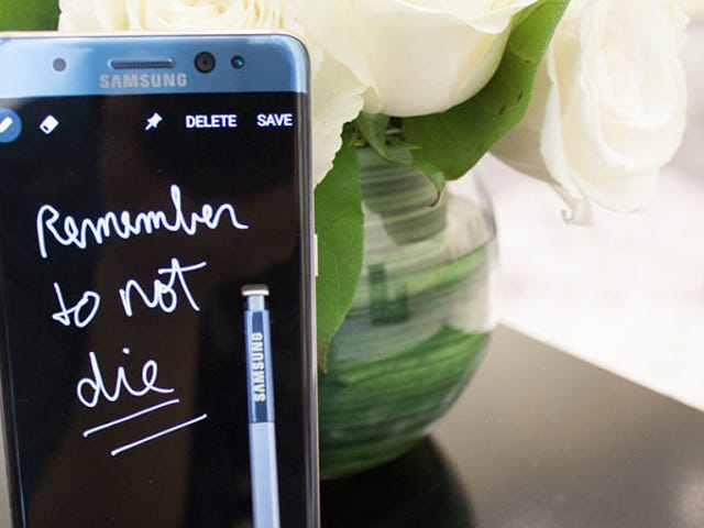 Se filtran imágenes de la nueva versión del Samsung Galaxy Note 7 que no explota