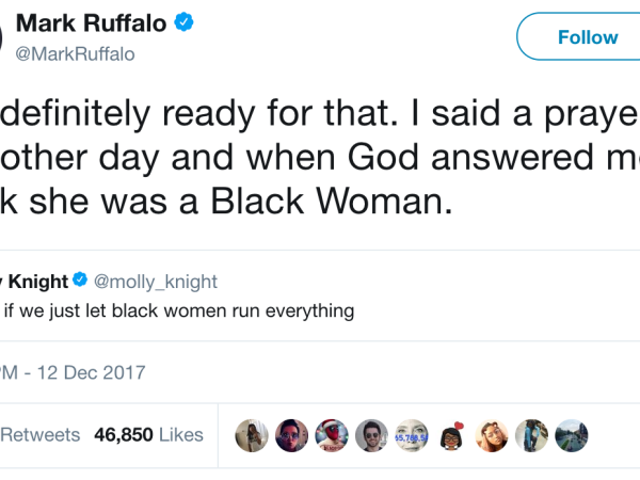 If Mark Ruffalo's 'God Is a Black Woman' Tweet Were a Marvel Movie