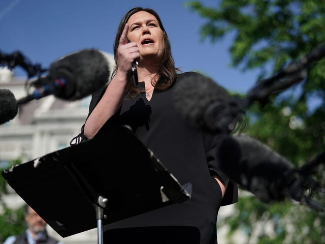 Sarah 'Suckabee' Sanders Lands Softly at Trump's Personal YouTube Channel, Fox News