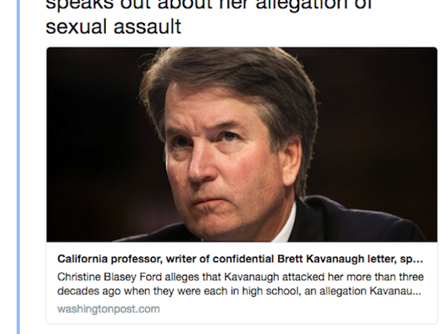 How Long Till Whitney Posts About the Kavanaugh Accuser?