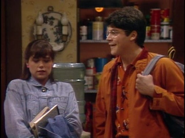 Maura Tierney on Family Ties