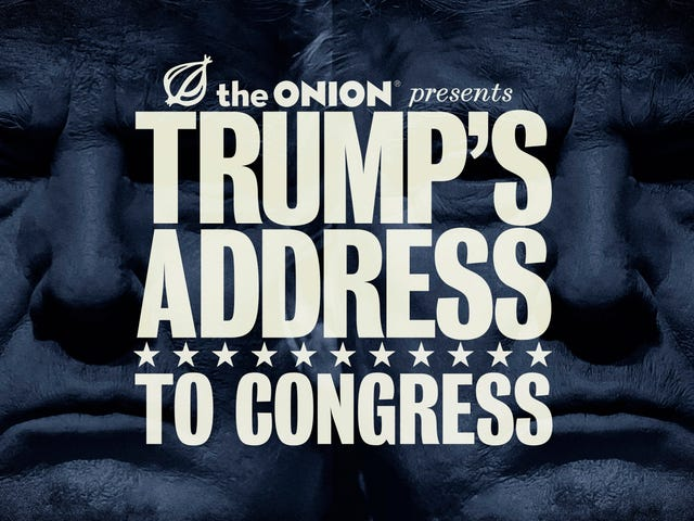 FUSION TV se tourne vers Onion pour le sauver du premier discours du président Trump au Congrès