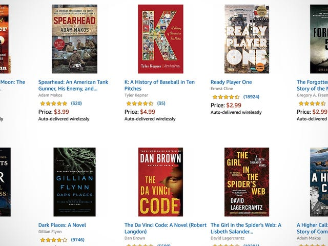 Amazon's Sunday Kindle Sale Is Full of Bona Fide Hits