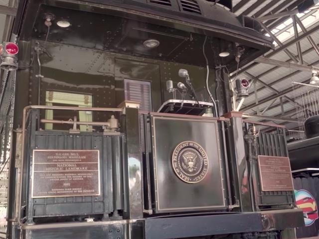 Presidentes costumavam andar pelo país em um vagão à prova de balas