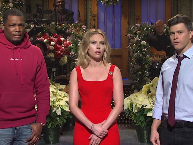 Scarlett Johanssons sjätte Saturday Night Live underlättar för smirrande centrism