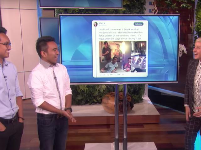 Los bromistas virales de McDonald's obtienen una gran recompensa por <i>Ellen</i>