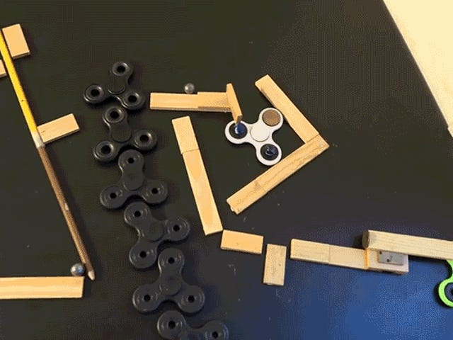 Rube Goldberg Machine-Rilled Finget-Filled Machine Has Ending Perfect