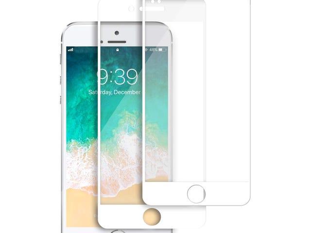 2 Packs Tentoki iPhone 7 Plus / 8 Plus Full Coverage HD Tempered Glass Screen Protectors $3.19