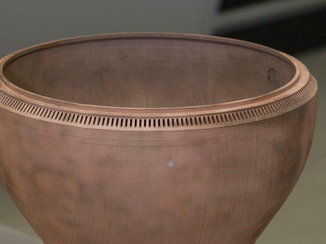 C'est la première pièce de moteur de fusée en cuivre à taille réelle imprimée en 3D de la NASA
