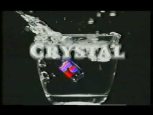 90-ті рр. Відродження популярної культури як PepsiCo Mulls Crystal Pepsi