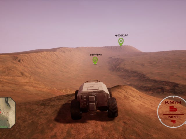 Driving Game Recreates The Actual Surface Of Mars