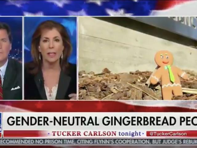 Hvit julemann spiser bare Gingermen