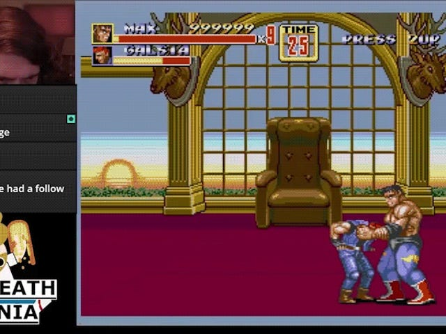 Streets Of Rage 2 Champ Pulls Off Nigh Impossible No Death Mania Run