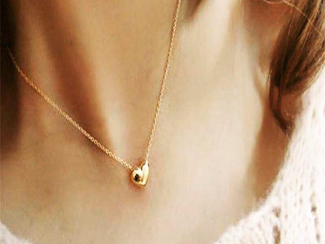 Romantic Heart Shape Body Jewelry Statement Chain Pendant Necklace