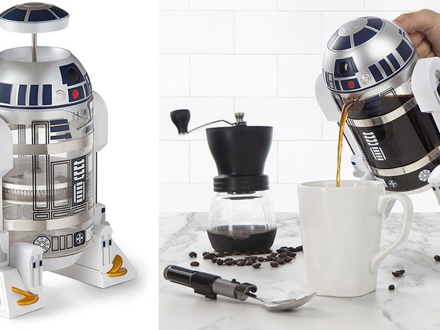 The Best Part of Waking Up Is This R2-D2 Coffee Press